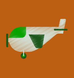 Flat icon in shading style airplane with propeller vector