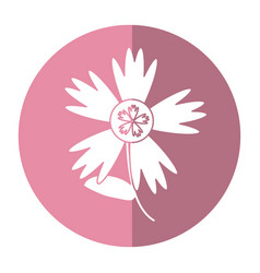 Flower spring natural shadow vector