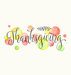 happy thanksgiving poster vector image vector image