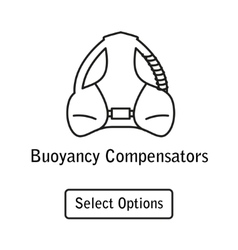 Icon buoyancy compensator scuba diving equipment vector