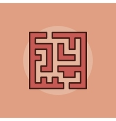 Labyrinth abstract icon vector