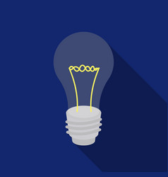 lightbulb icon in flat style isolated on white vector image