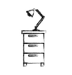 Monochrome blurred silhouette of filing cabinet vector