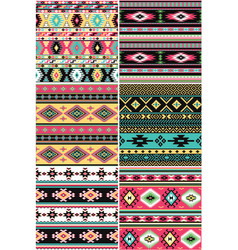 Native american fabric collection vector
