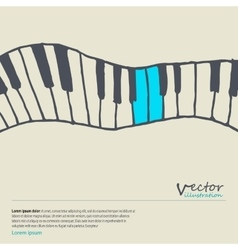 Piano keys sketch vector image
