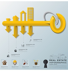 Real estate and business infographic vector