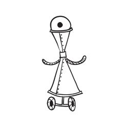 Retro cartoon robot vector