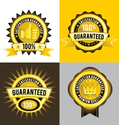 Satisfaction Guaranteed and Premium Quality Gold vector image vector image