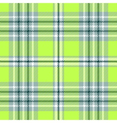 Seamless plaid pattern in bright green and white vector