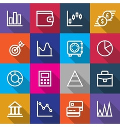 Set of Business Finance Icons Designs vector image