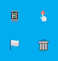 set of simple menu icons vector image