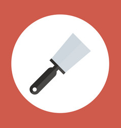 Spatula icon working hand tool equipment concept vector