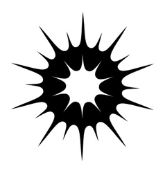 Sun black simple icon vector image
