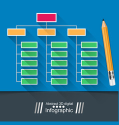 Table infographic education pencil vector