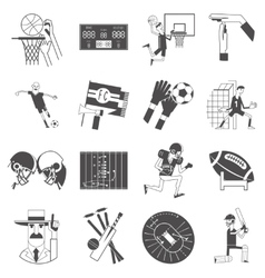 Team sport icons set black vector image vector image