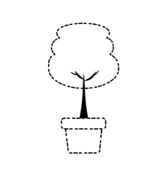 tree in a pot icon vector image