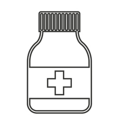 Bootle drugs isolated icon vector