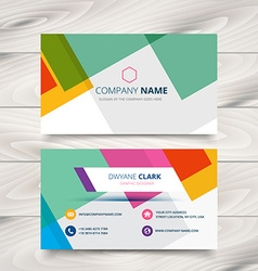 Modern colorful business card template design vector