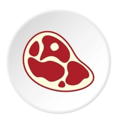 Marble beef steak icon flat style vector