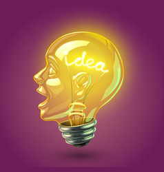 Idea lightbulb vector