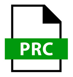 file name extension prc type vector image