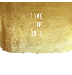 Golden save the date vector