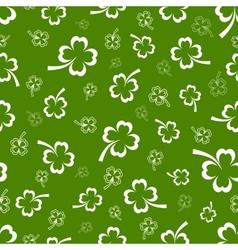 Shamrock seamless pattern vector image
