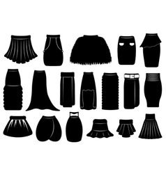 Set of different skirts vector
