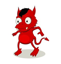 Little red devil vector