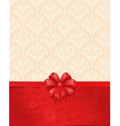 vintage background with a bow vector image