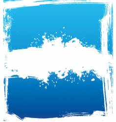 Blue ink vector