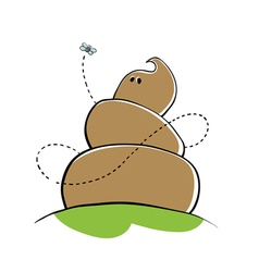 cartoon poo vector image