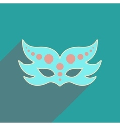 Flat web icon with long shadow carnival mask vector