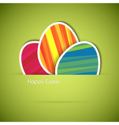 paper card eggs vector image