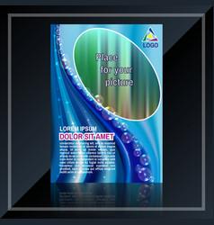 business flyer design vector image