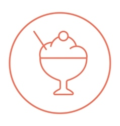 Cup of ice cream line icon vector