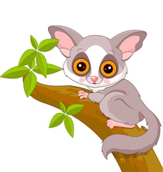 Cartoon galago vector