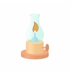 Gas lamp icon cartoon style vector
