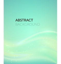 Abstract cyan background with smooth lines vector image vector image