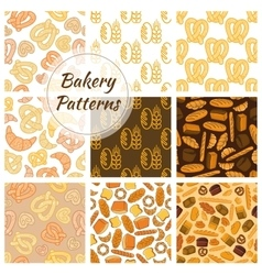 Bakery bread and grain seamless pattern vector