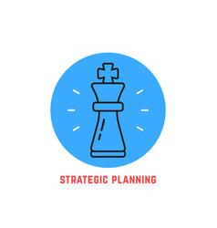 Blue round strategic planning logo vector