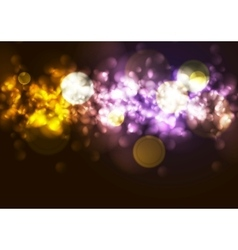 Bright abstract lights bokeh background vector image vector image