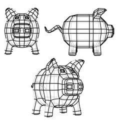 Business concept piggy bank vector