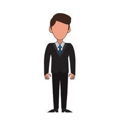 Businessman avatar cartoon vector