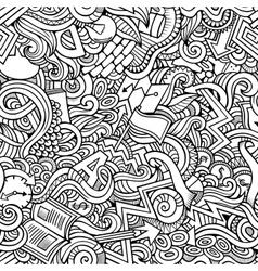 Cartoon cute doodles hand drawn idea seamless vector