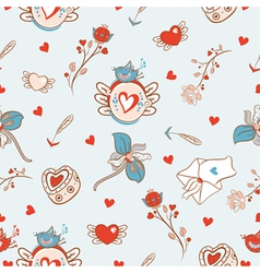 Cartoon pattern for va vector image