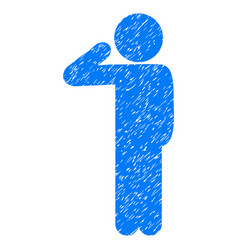 Child salute grunge icon vector