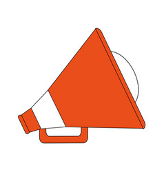 Color silhouette image orange megaphone with vector