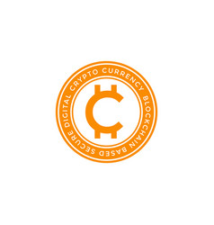 Cryptocurrency global symbol icon vector