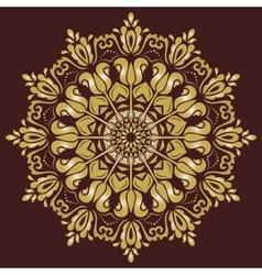Damask pattern orient background vector